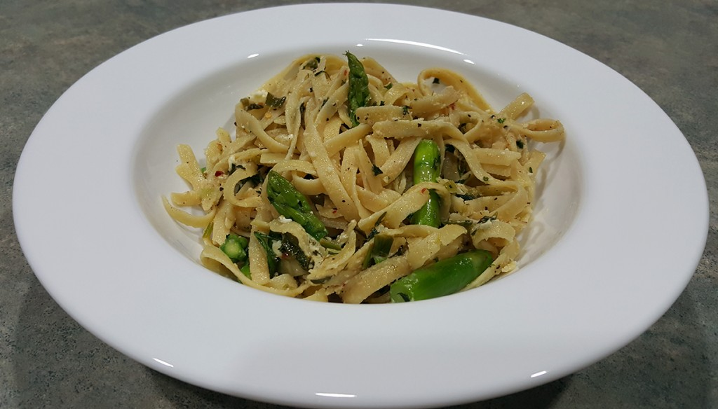 Asparagus and Feta Fettuccine