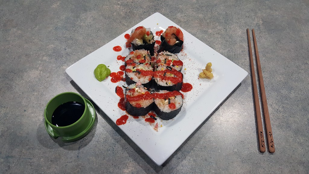Cajun Shrimp Sushi Roll