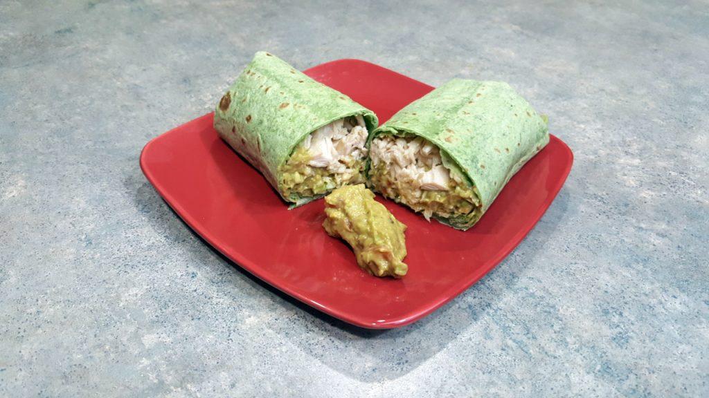 Spicy Guacamole Chicken Wrap