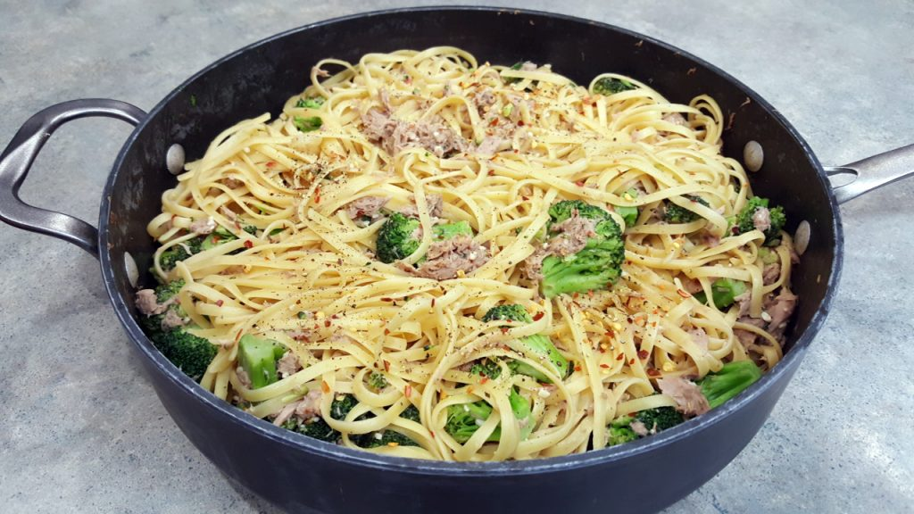 Linguine Tuna and Broccoli