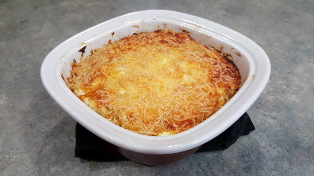 Spicy Baked Orzo